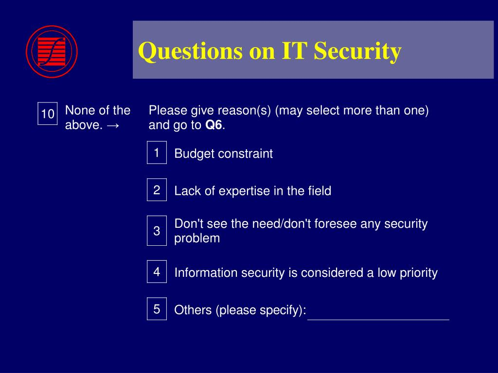 Questions on IT Security
