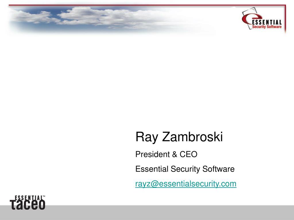 Ray Zambroski
