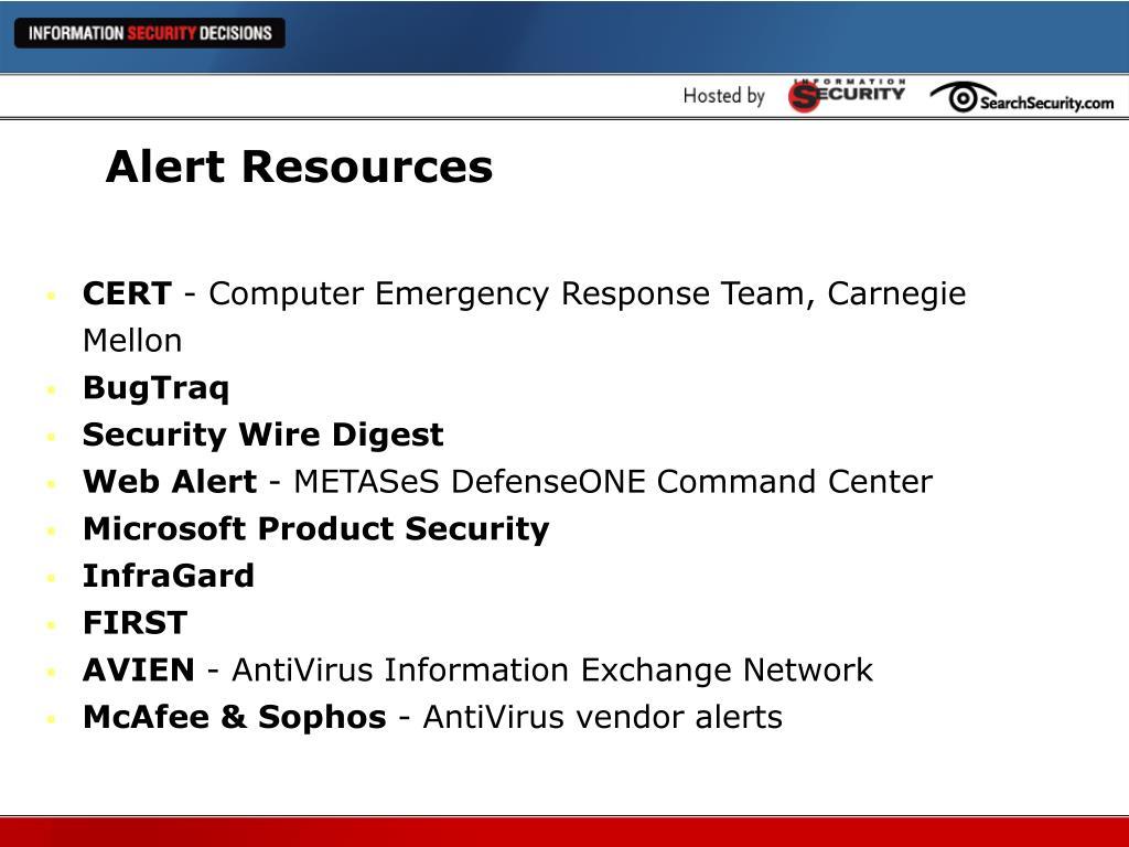 Alert Resources