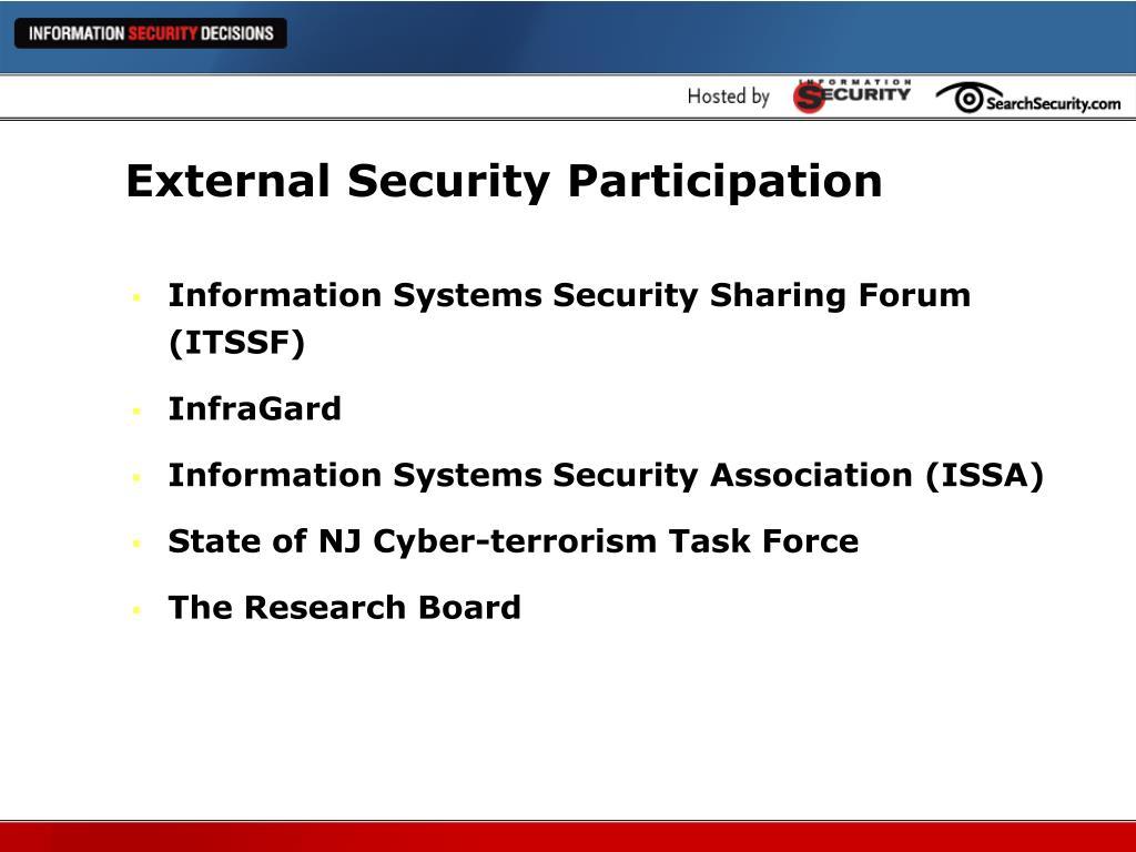 External Security Participation