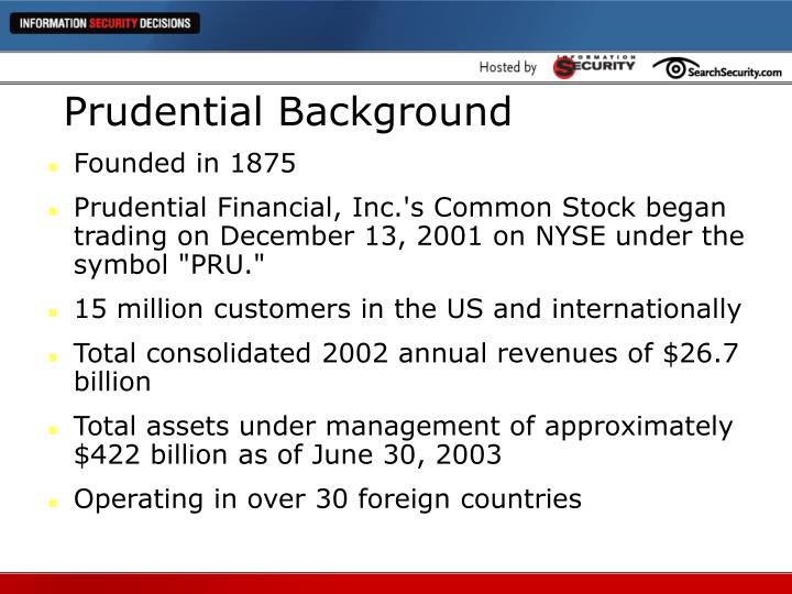 Prudential background