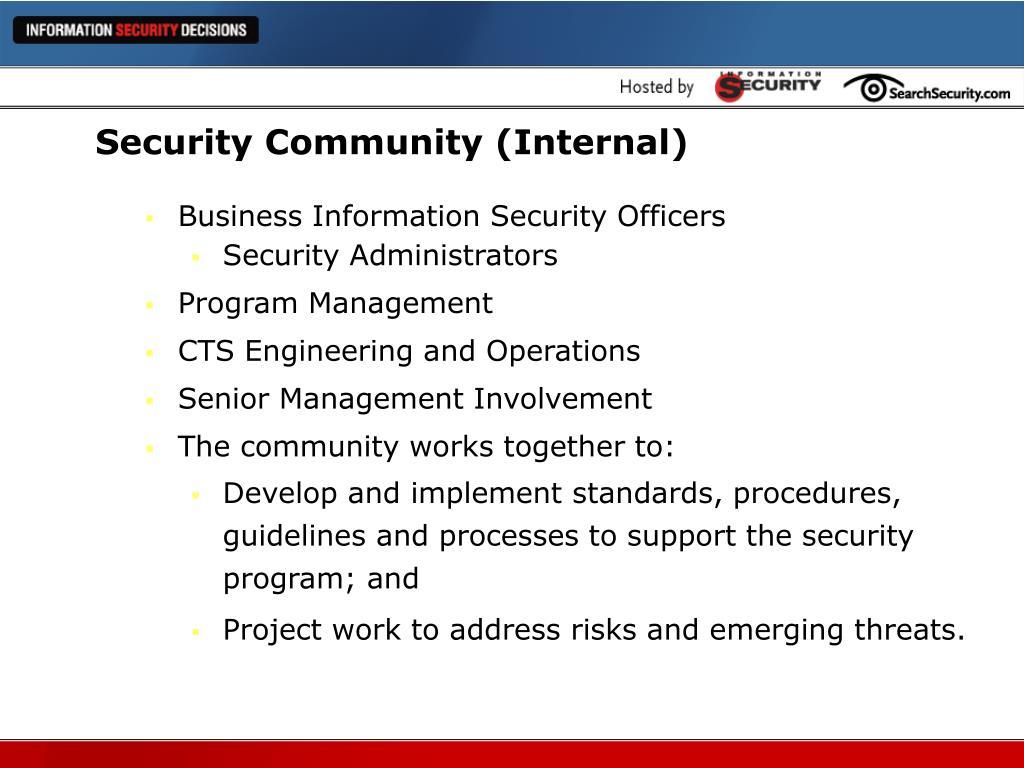 Security Community (Internal)