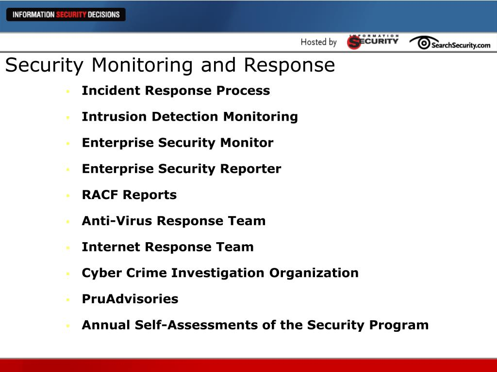 Security Monitoring and Response