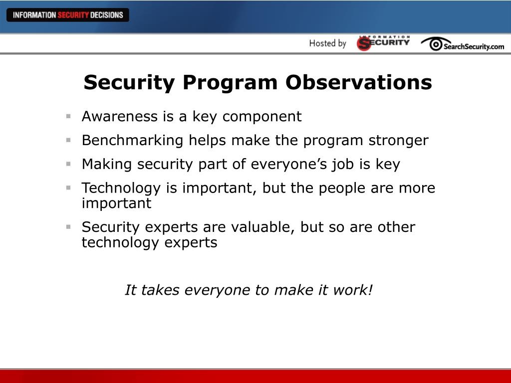 Security Program Observations