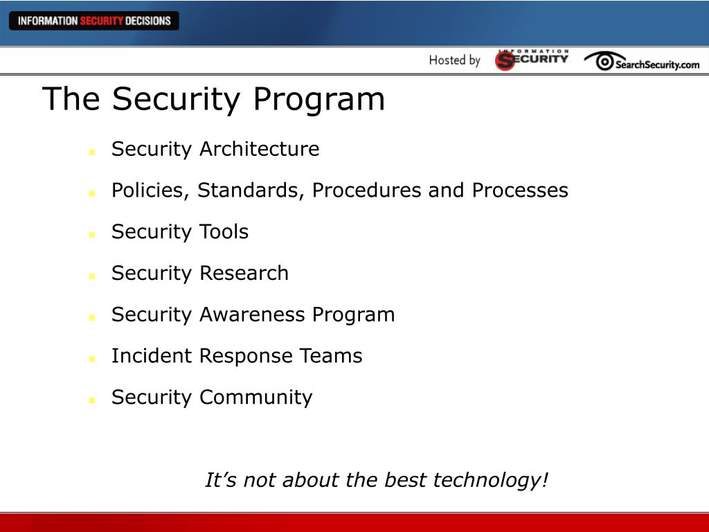 The Security Program