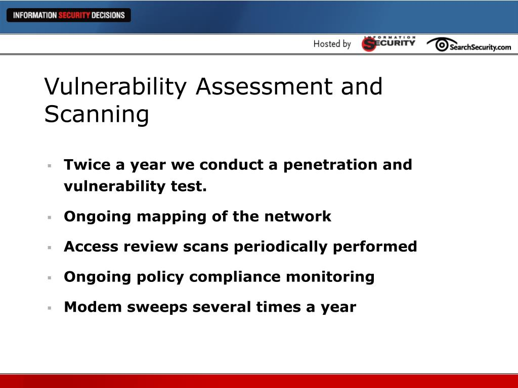 Vulnerability Assessment and Scanning