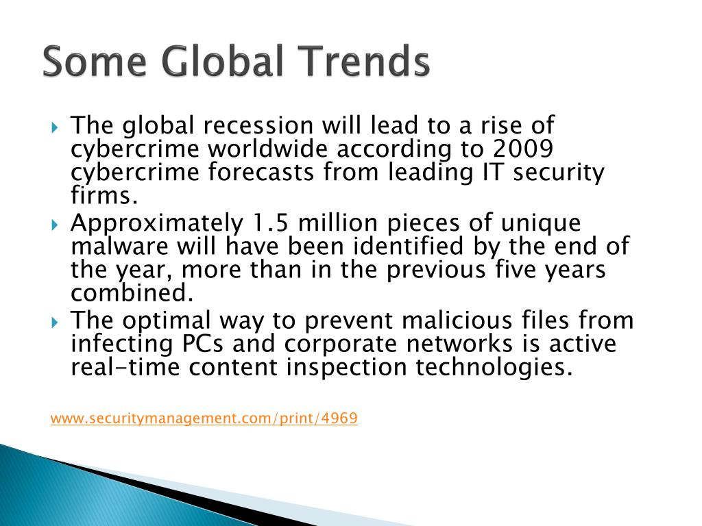Some Global Trends