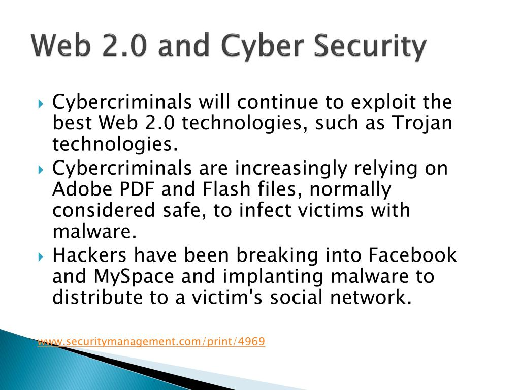 Web 2.0 and Cyber Security