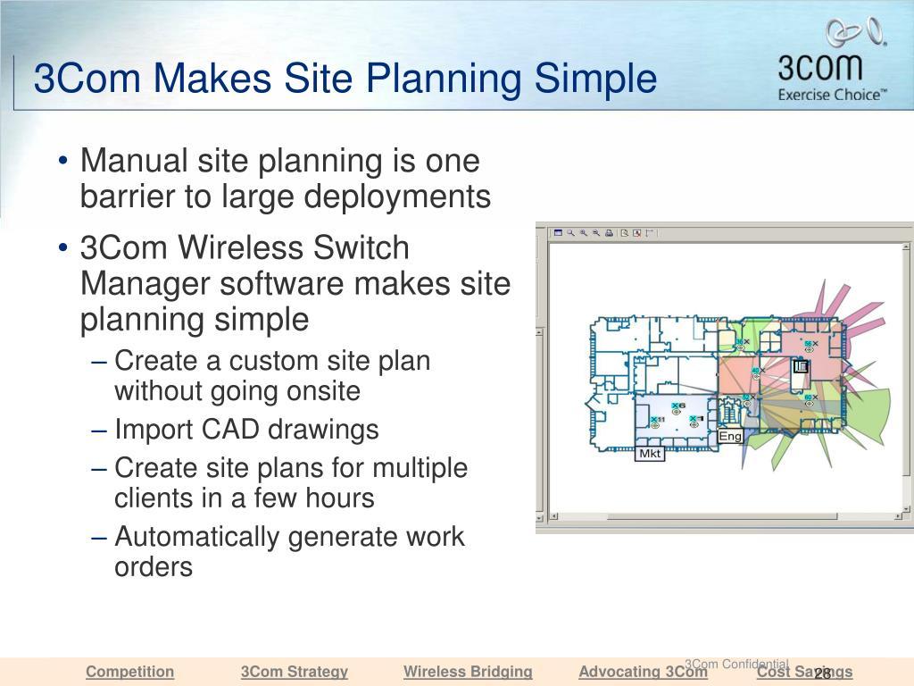 3Com Makes Site Planning Simple