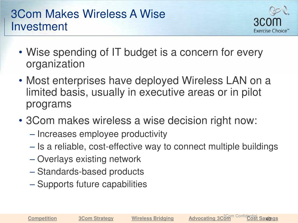 3Com Makes Wireless A Wise Investment