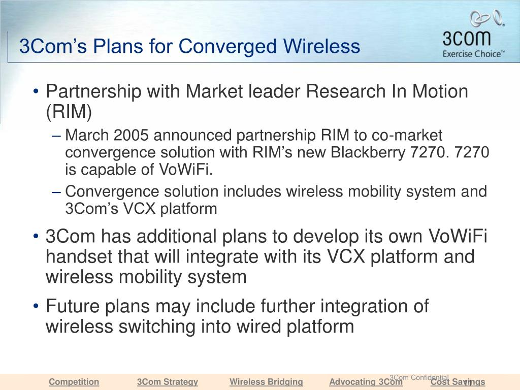 3Com's Plans for Converged Wireless