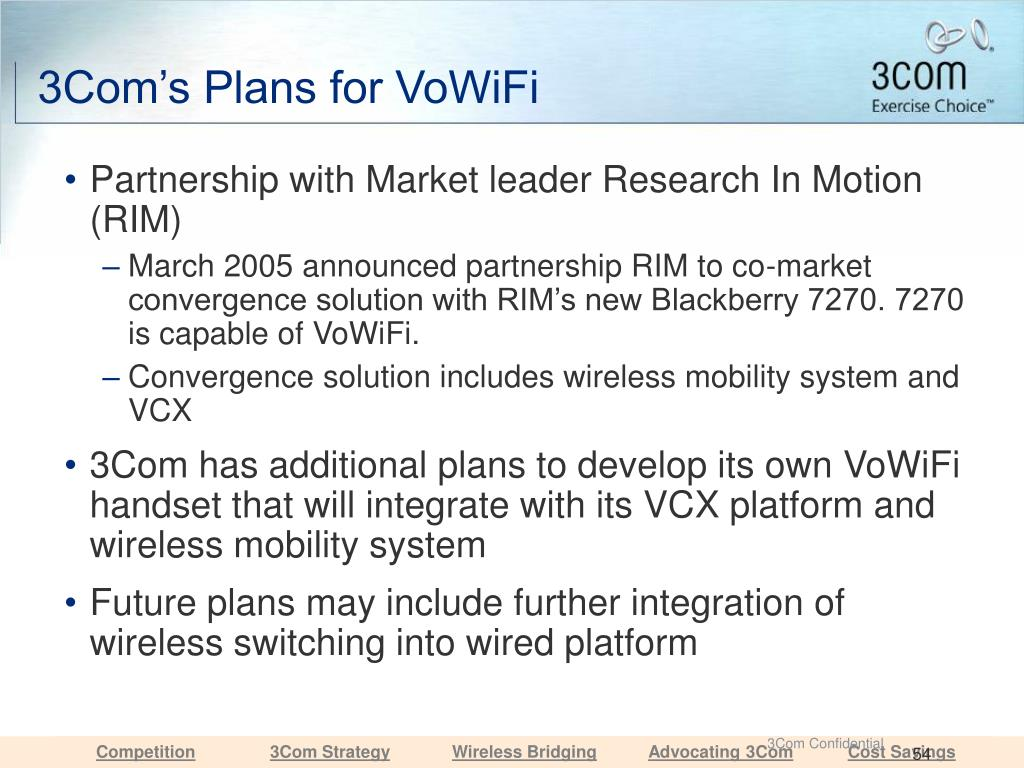 3Com's Plans for VoWiFi
