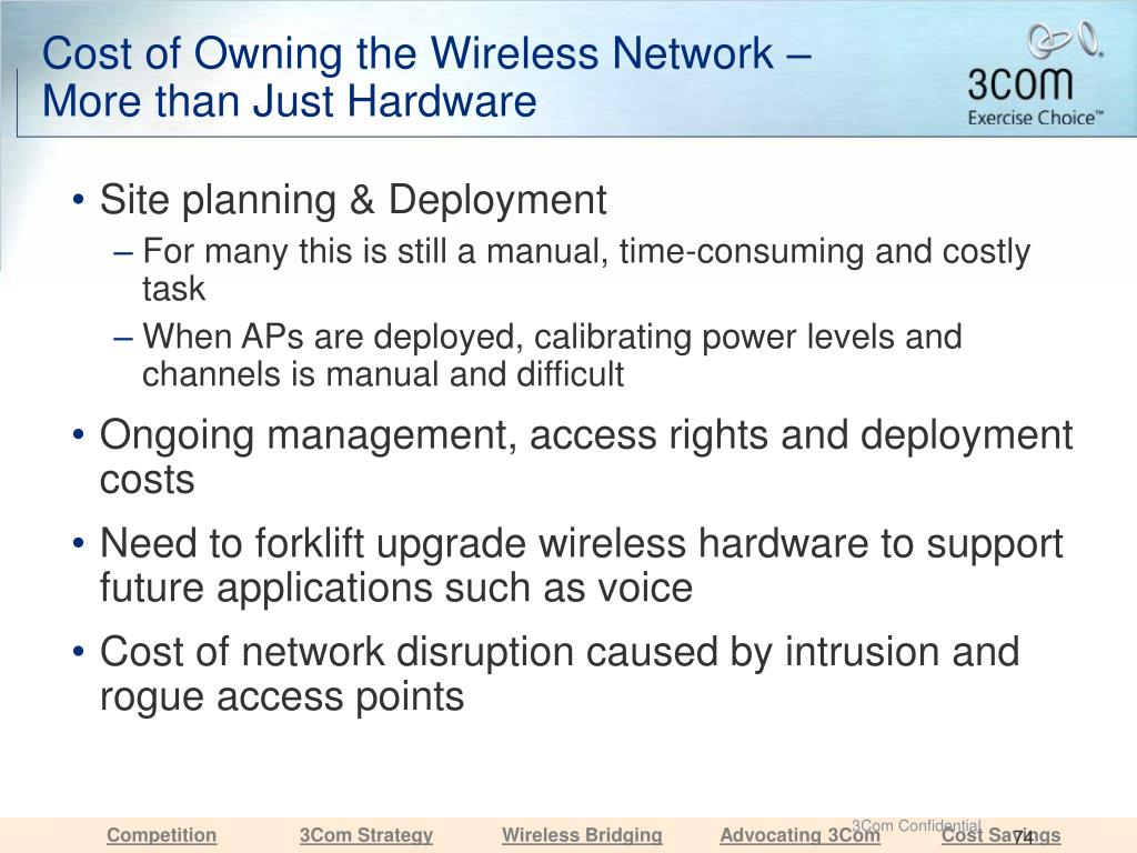 Cost of Owning the Wireless Network – More than Just Hardware