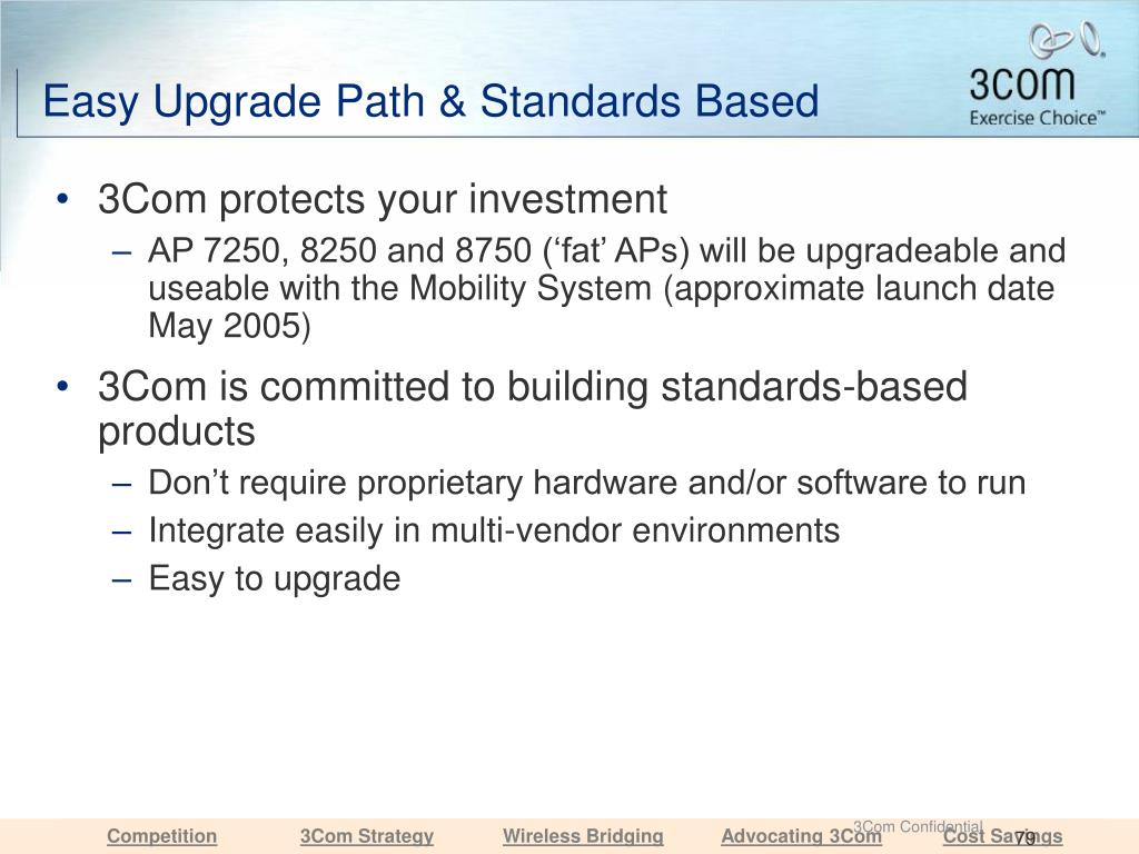 Easy Upgrade Path & Standards Based