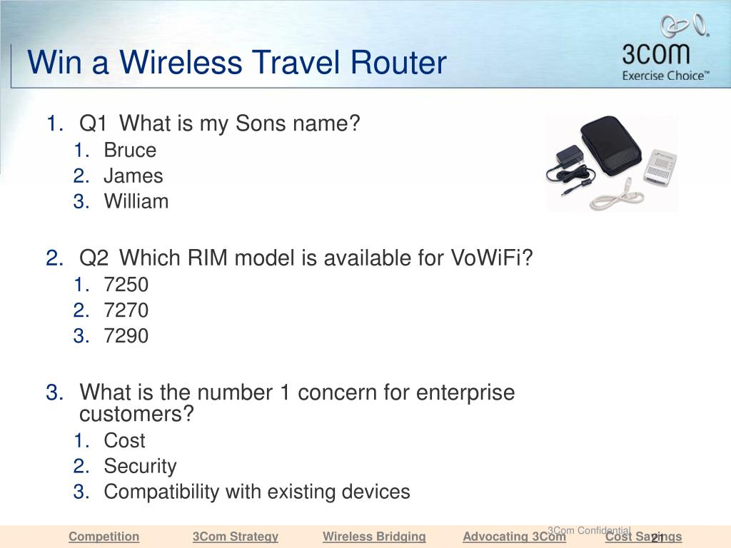 Win a Wireless Travel Router