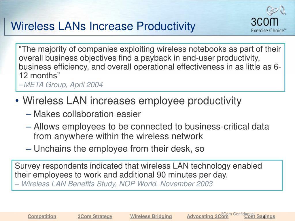 Wireless LANs Increase Productivity