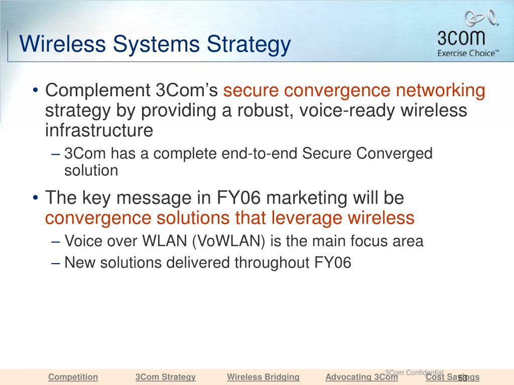 Wireless Systems Strategy