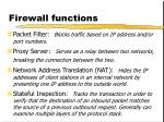 firewall functions
