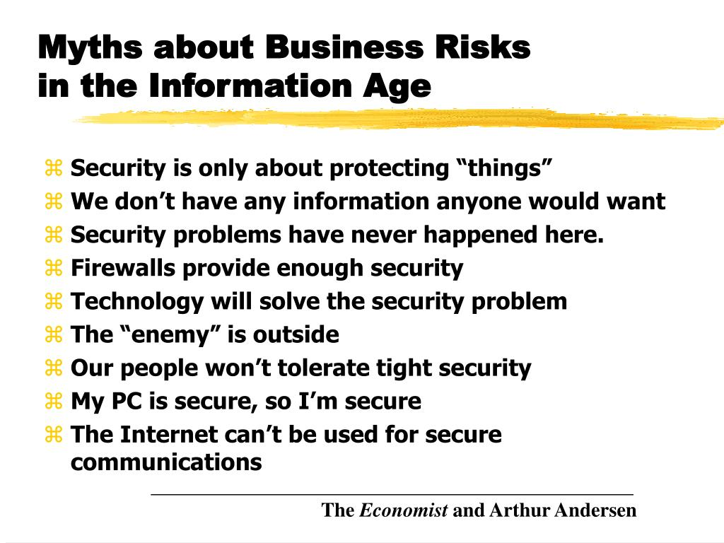 Myths about Business Risks