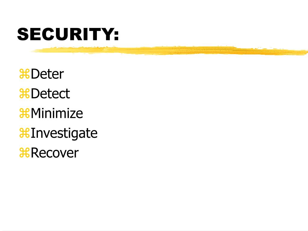 SECURITY: