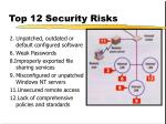 top 12 security risks
