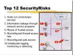 top 12 securityrisks