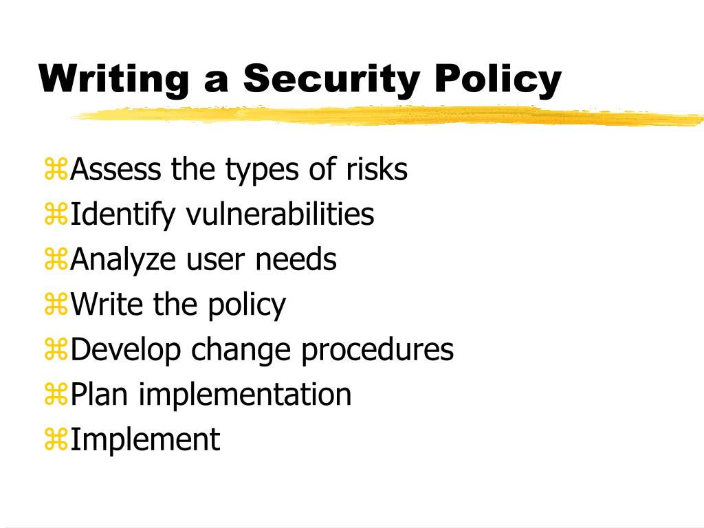 Writing a Security Policy
