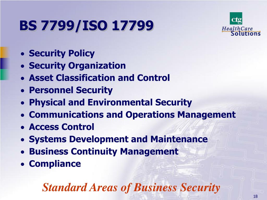 BS 7799/ISO 17799