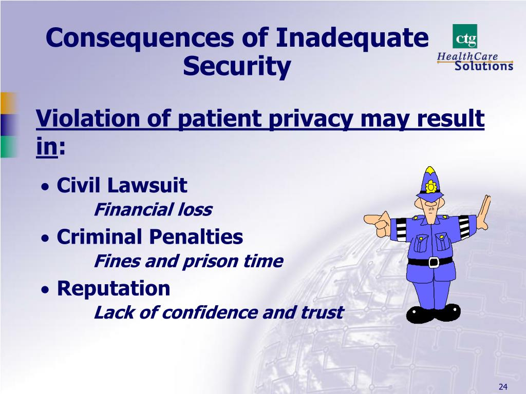 Consequences of Inadequate Security