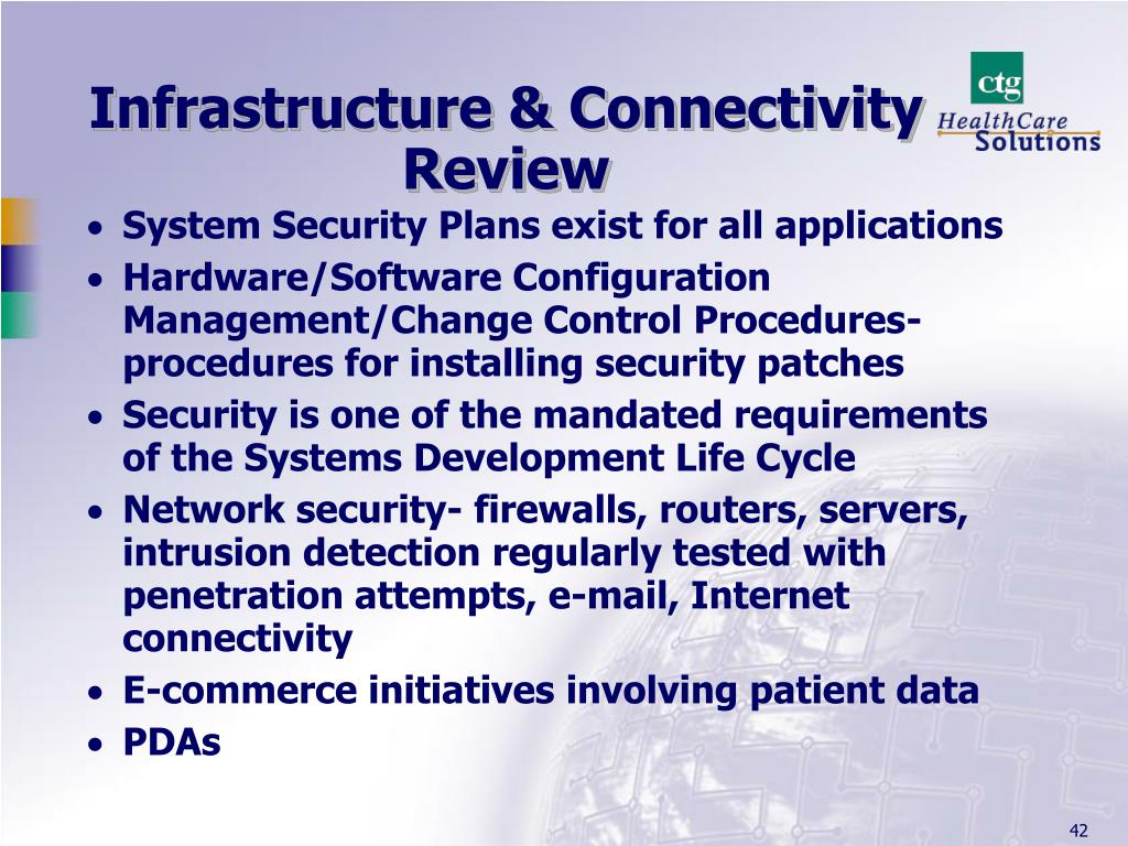 Infrastructure & Connectivity Review