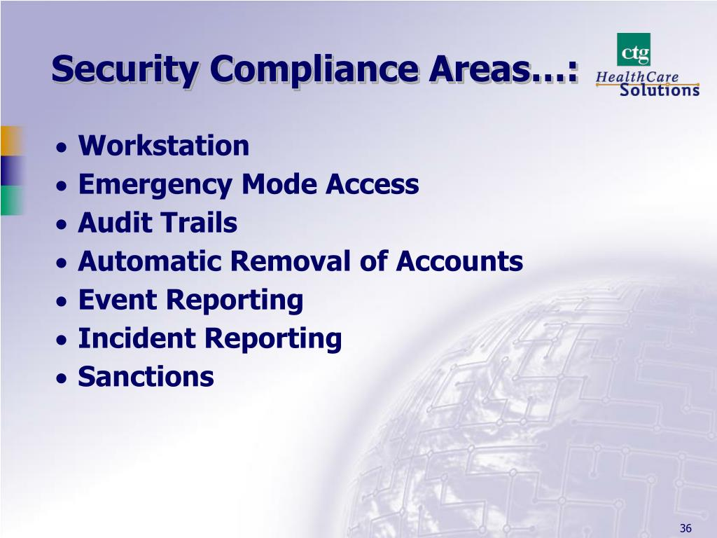 Security Compliance Areas…: