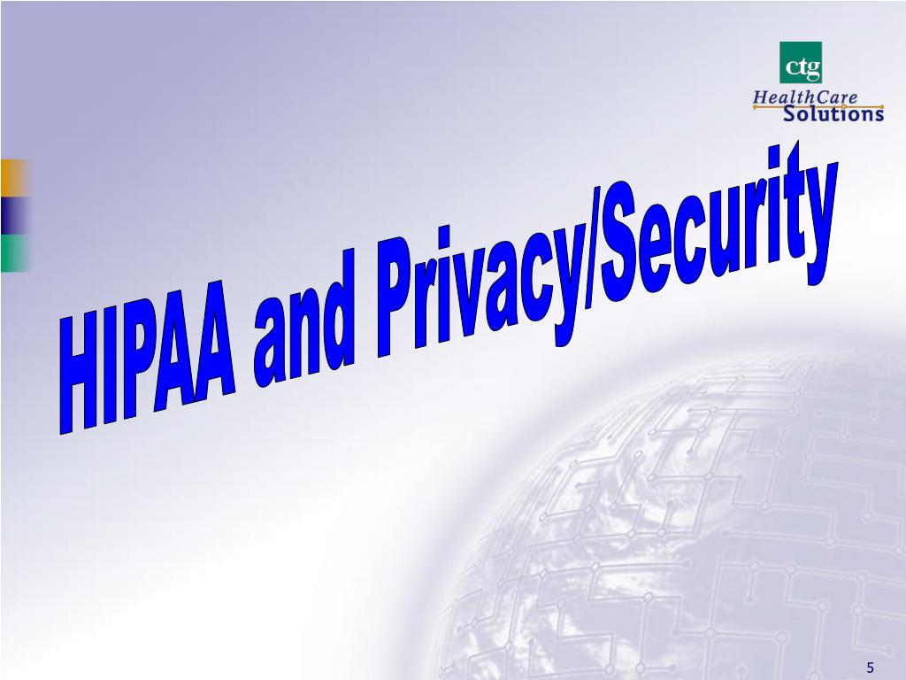 HIPAA and Privacy/Security