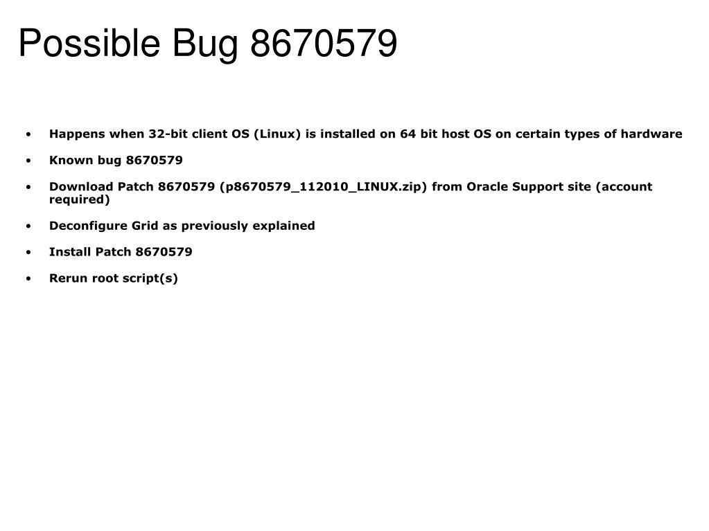 Possible Bug8670579