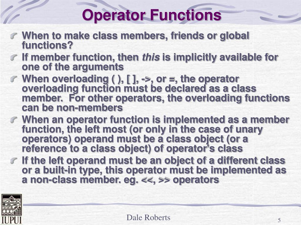 Operator Functions
