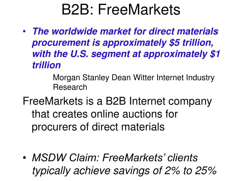 B2B: FreeMarkets