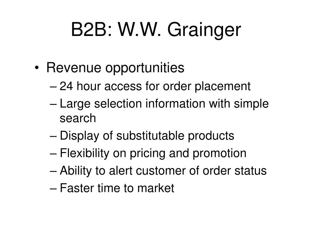 B2B: W.W. Grainger