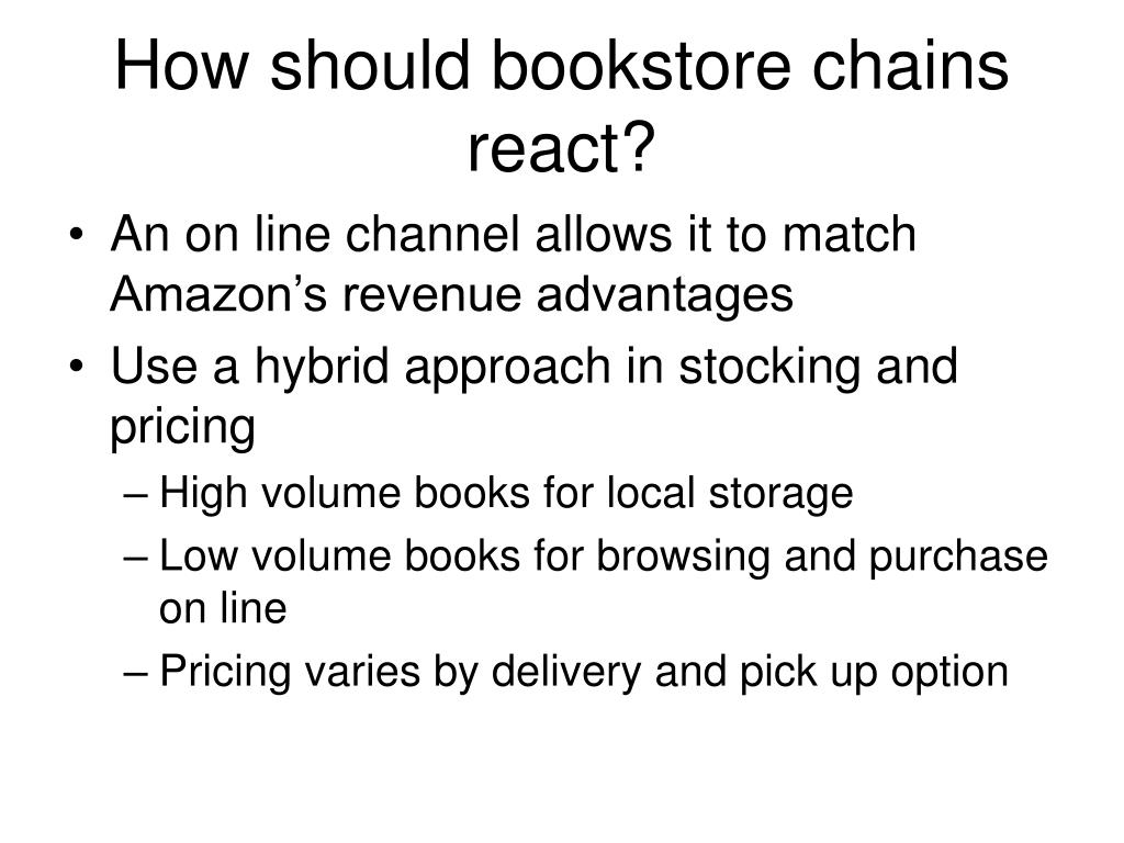 How should bookstore chains react?