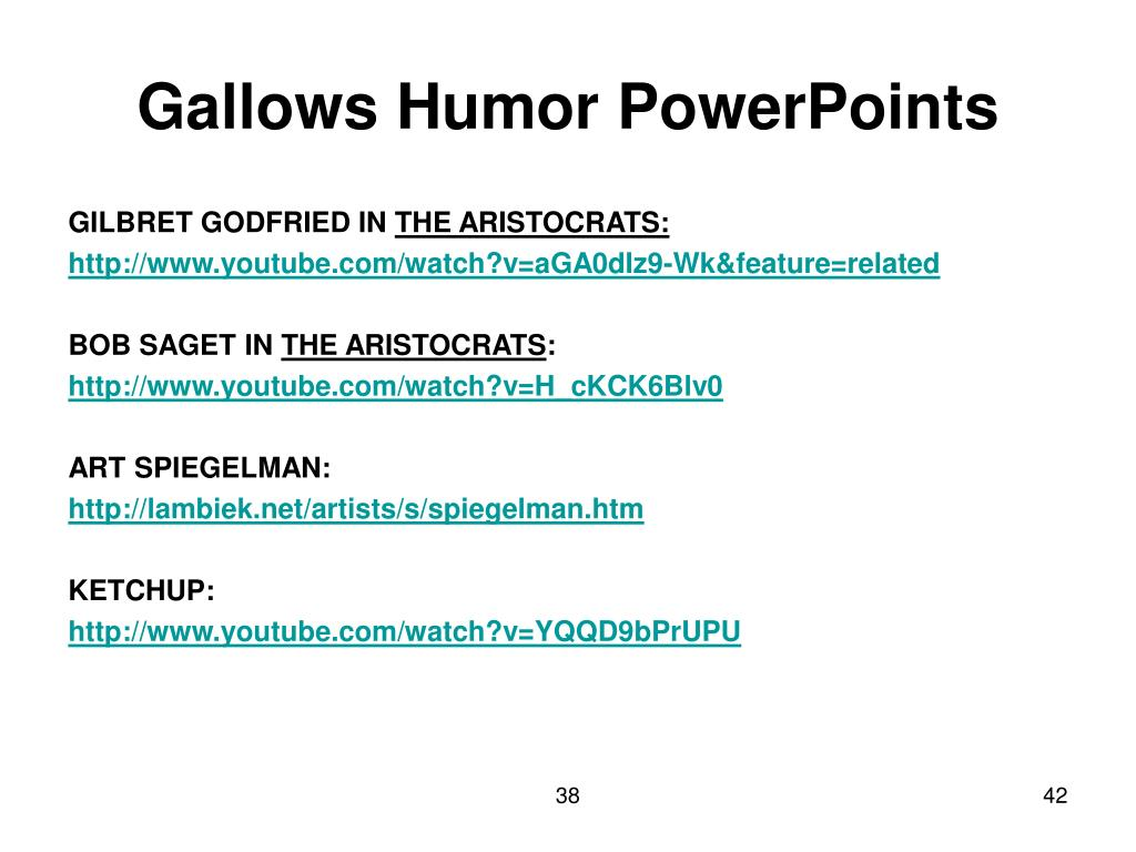 Gallows Humor PowerPoints