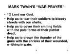 mark twain s war prayer