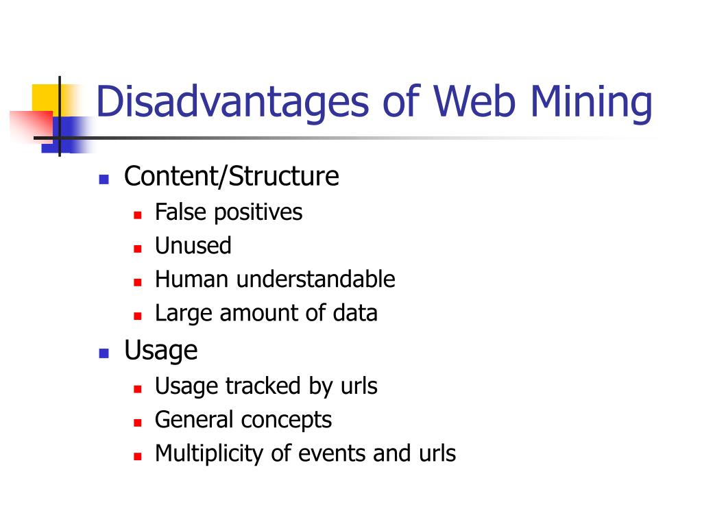 Disadvantages of Web Mining