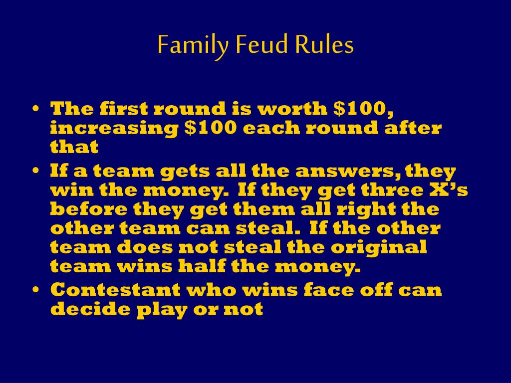 Family Feud Rules