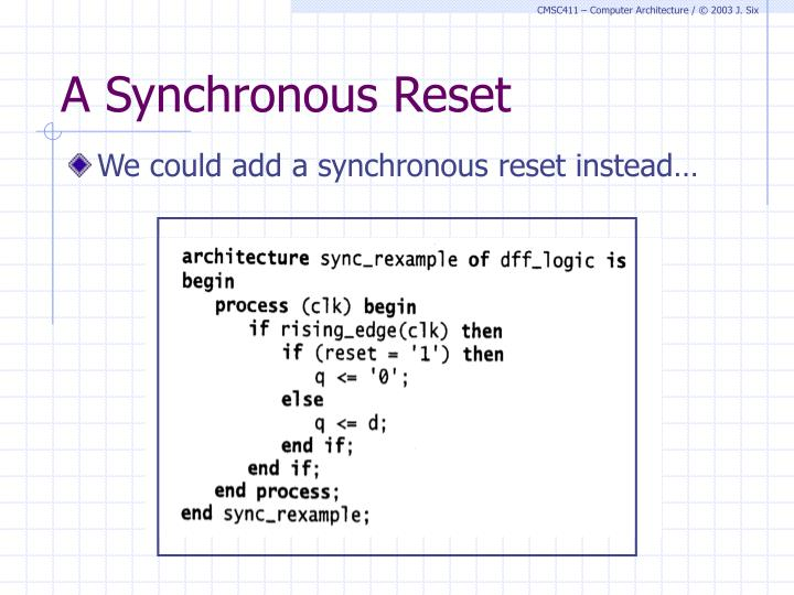 A Synchronous Reset