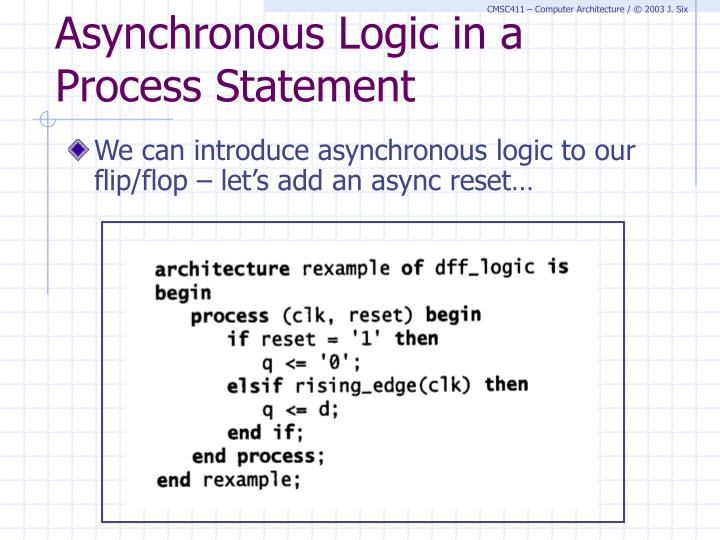 Asynchronous Logic in a Process Statement