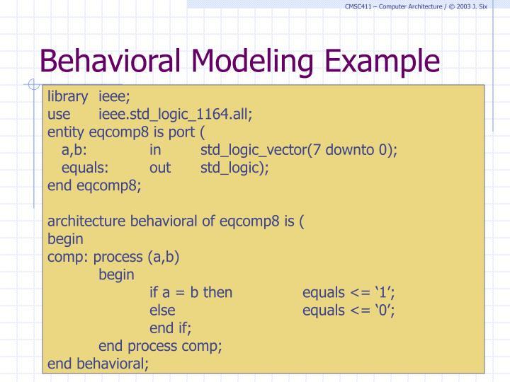 Behavioral Modeling Example