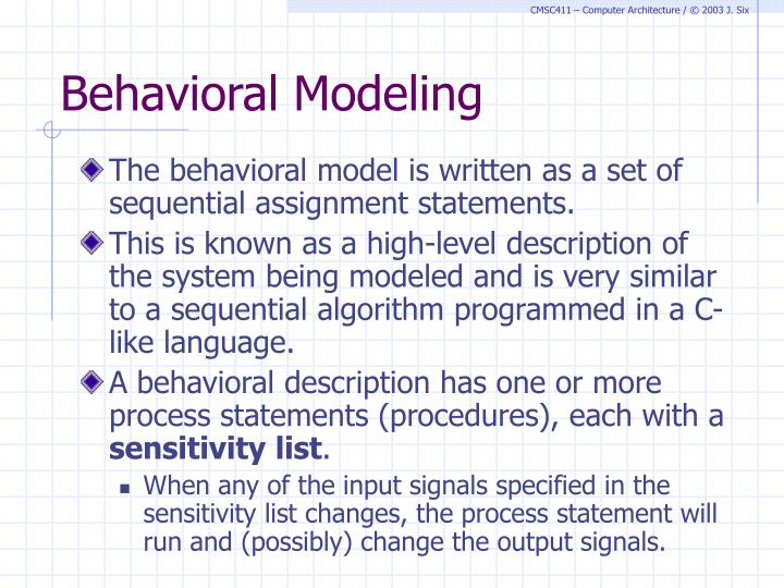 Behavioral Modeling