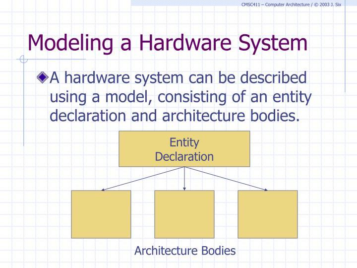 Modeling a Hardware System