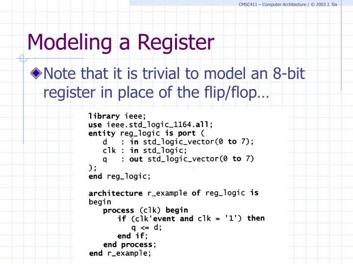 Modeling a Register
