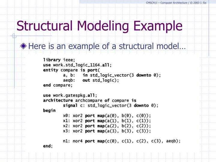 Structural Modeling Example
