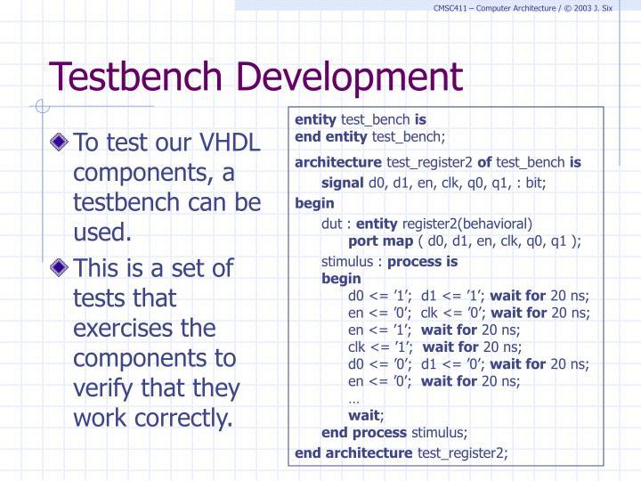 Testbench Development