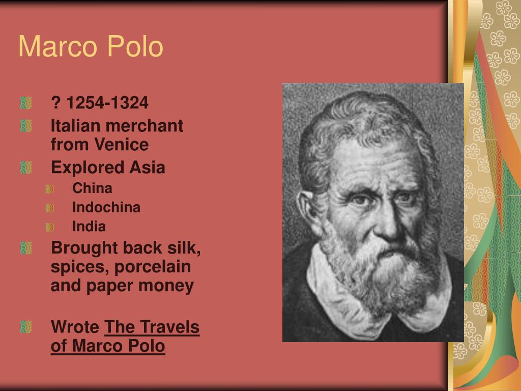 the travels of marco polo essay The travels of marco polo as all books were handwritten until the invention of the printing press in 1439, a definitive or original version of marco polo's book does not exist.